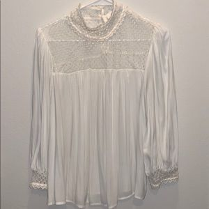 Crochet off white Gap blouse